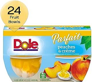 DOLE FRUIT BOWLS Peaches & Creme Parfait, 4 Cups (6 Pack)