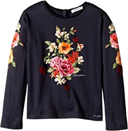 Dolce & Gabbana Kids - Back to School Floral Long Sleeve T-Shirt (Toddler/Little Kids)