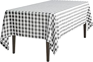 60 x 102 in. Rectangular Tablecloth Black & White Checker