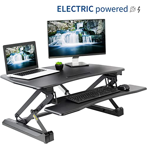 Astonishing Electric Standing Desk Converter Amazon Com Download Free Architecture Designs Scobabritishbridgeorg