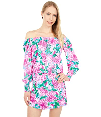 Lilly Pulitzer Lana Skort Romper (Pink Blossom Try Your Zest) Women