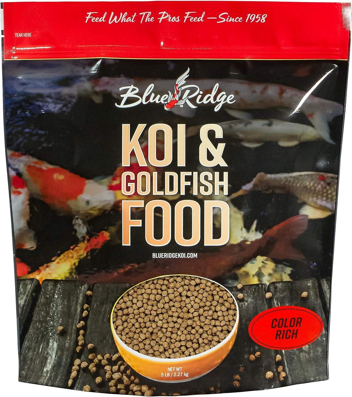 5 Pound color Rich Formula Koi & goldfish Pellet Food by bluee Ridge Home Fashion