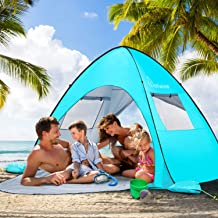 WolfWise UPF 50+ Easy Pop Up Beach Tent Sun Shelter Quick Instant Automatic Portable..
