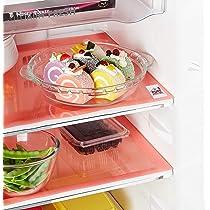 Fun Homes 6 Pieces PVC Refrigerator/Fridge Multipurpose Drawer Mat Set (Red) (Fun0154)