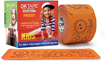 OKTAPE New 2020 Sport Kinesiology Tape Designed for Sports Team, Ski & Kids Hypoallergenic for Sensitive Skin Precut Tape for Sports Supply,Easy Removal No Harm to Skin