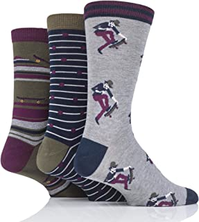 Thought Mens Skater Bamboo and Organic Cotton Socks Pack of