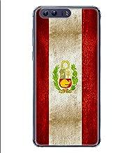 جراب جراب متعدد الألوان بشعار كرة القدم البيرو 01 لهاتف Huawei P10 من ColorKing