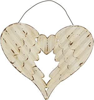 The Bridge Collection Distressed Metal Angel Wings Wall Decor, 8