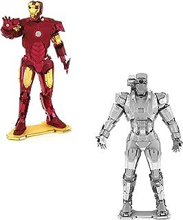 fascinations Metal Earth 3D Model Kits Marvel Avengers Set of 2 Iron Man & War Machine