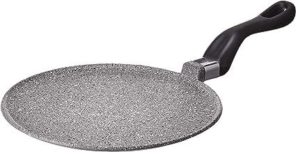 """Mopita 24cm/9.45"""" Non-Stick Cast Aluminum Crepe Pan, Medium, Grey"""