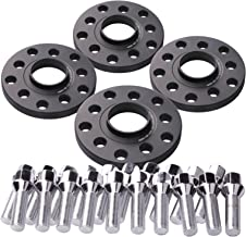 DCVAMOUS 4pc 15mm 5x100 & 5x112 Hub Centric Wheel Spacers for Audi Quattro TT A3 A4 S4 A6 S6 A8 S8, Volkswagen Corrado Golf R32 Jetta Beetle (57.1mm Hub Bore, with 40mm Shank 14x1.5 Cone Bolts)