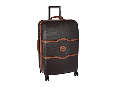 Delsey Chatelet Hard 24 Spinner Trolley (Chocolate) Luggage
