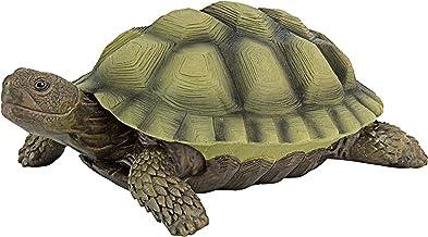 Design Toscano QM1887611 Gilbert the Box Turtle Garden Decor Animal Statue, 9 Inch, Full Color