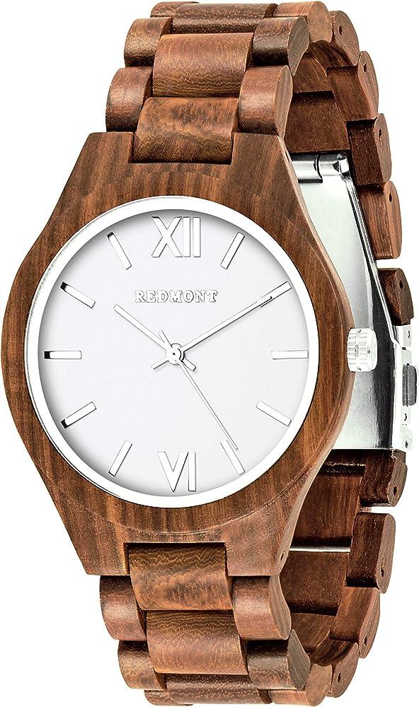 Oliver redmont, orologio per uomo, realizzato in autentico legno di sandalo 2018WalnutClassic