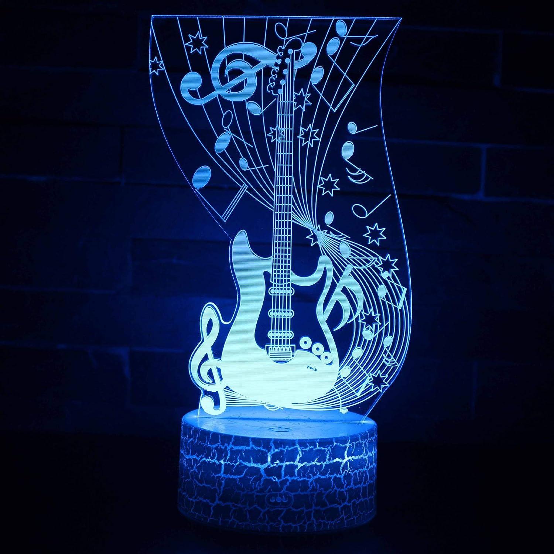 AECD Guitar Night Light Touch Remote Control Farbeful Table lamp USB Multi-Function Creative Gift Light,LC-348, Crack B07PZ3Z3WD  | Ich kann es nicht ablegen
