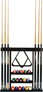 Flintar Wall Cue Rack, Premium Billiard Pool Cue Stick Holder, Made of Solid Hardwood, Improved Direct Wall Mounting, Cue Rack Only (Cues, Balls and Ball Rack not Included)