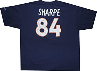 Reebok Shannon Sharpe Denver Broncos Throwback Pro Style Oversized T Shirt