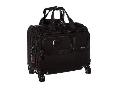 Tumi Alpha 3 Deluxe 4 Wheeled Laptop Case Brief (Black) Luggage