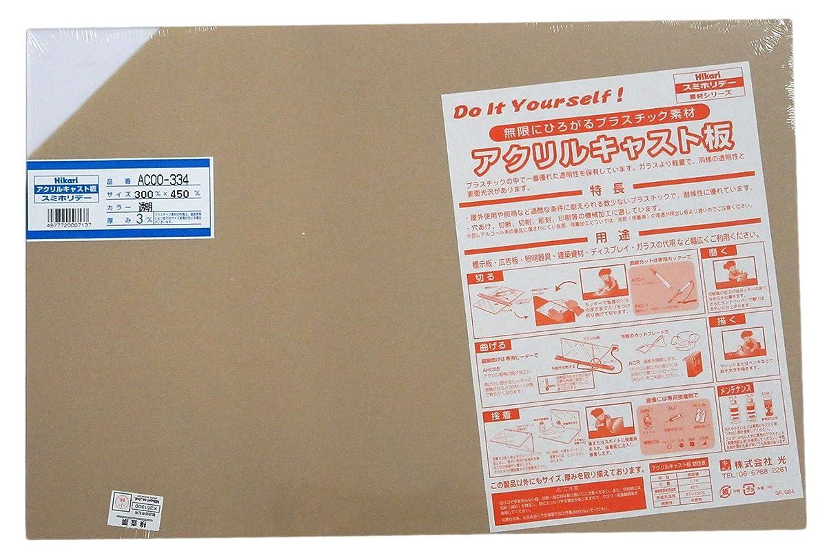ロール蒸留する仮装光 アクリル板 300×450×3  AC00-334 トウメイ