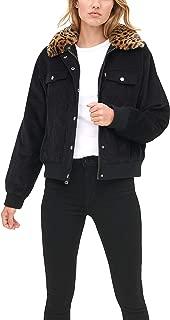 Women's The Amanda Corduroy Fur Collar Trucker Bomber Jacket