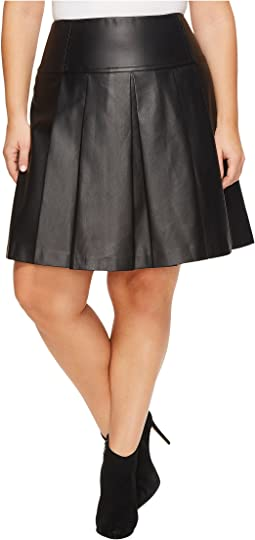 MICHAEL Michael Kors - Plus Size Fit and Flare Pleat Skirt