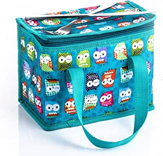 TEAMOOK Lunch Bag Insulated Lunch Box Cooler Bags 1pcs (Green owl)