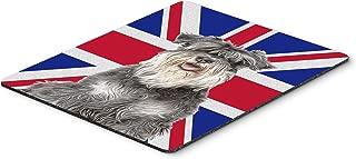 Caroline's Treasures Schnauzer with English Union Jack British Flag Mouse Pad/Hot Pad/Trivet (KJ1164MP)