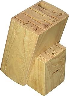 Bloc 10 Couteaux en Bois, 15,8 x 11,4 x 20,8 cm