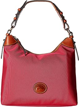 1111629a75 Dooney bourke claremont dover tote geranium w butterscotch trim ...