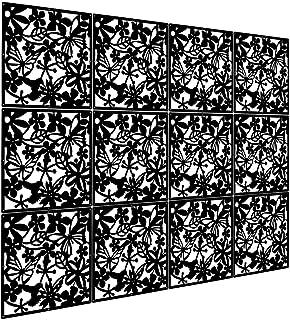 comprar comparacion Kernorv Biombo de 12 Paneles, PVC Divisor habitación Separador separación Espacios divisoria Pared (Negro)