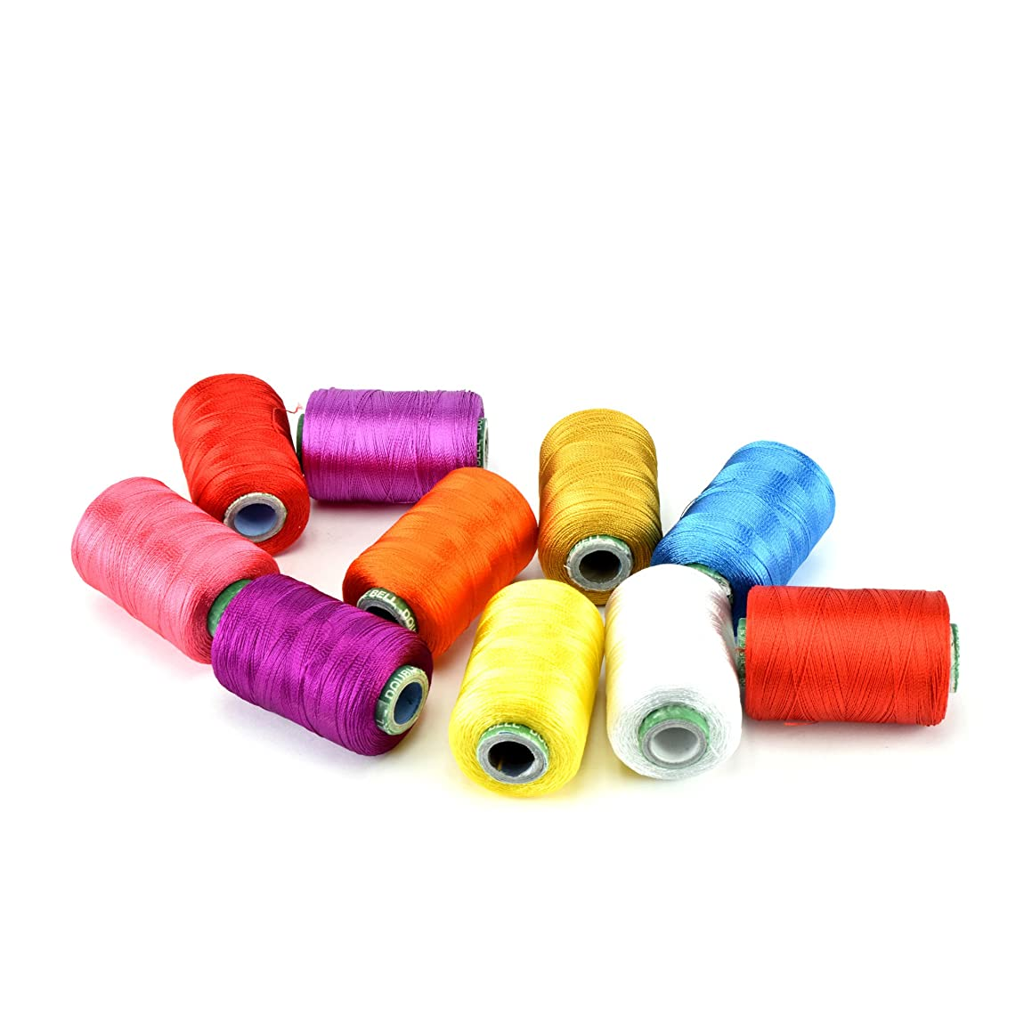 Unobite 10 Assorted Color Silk Embroidery Thread 550 Yards Each Spool