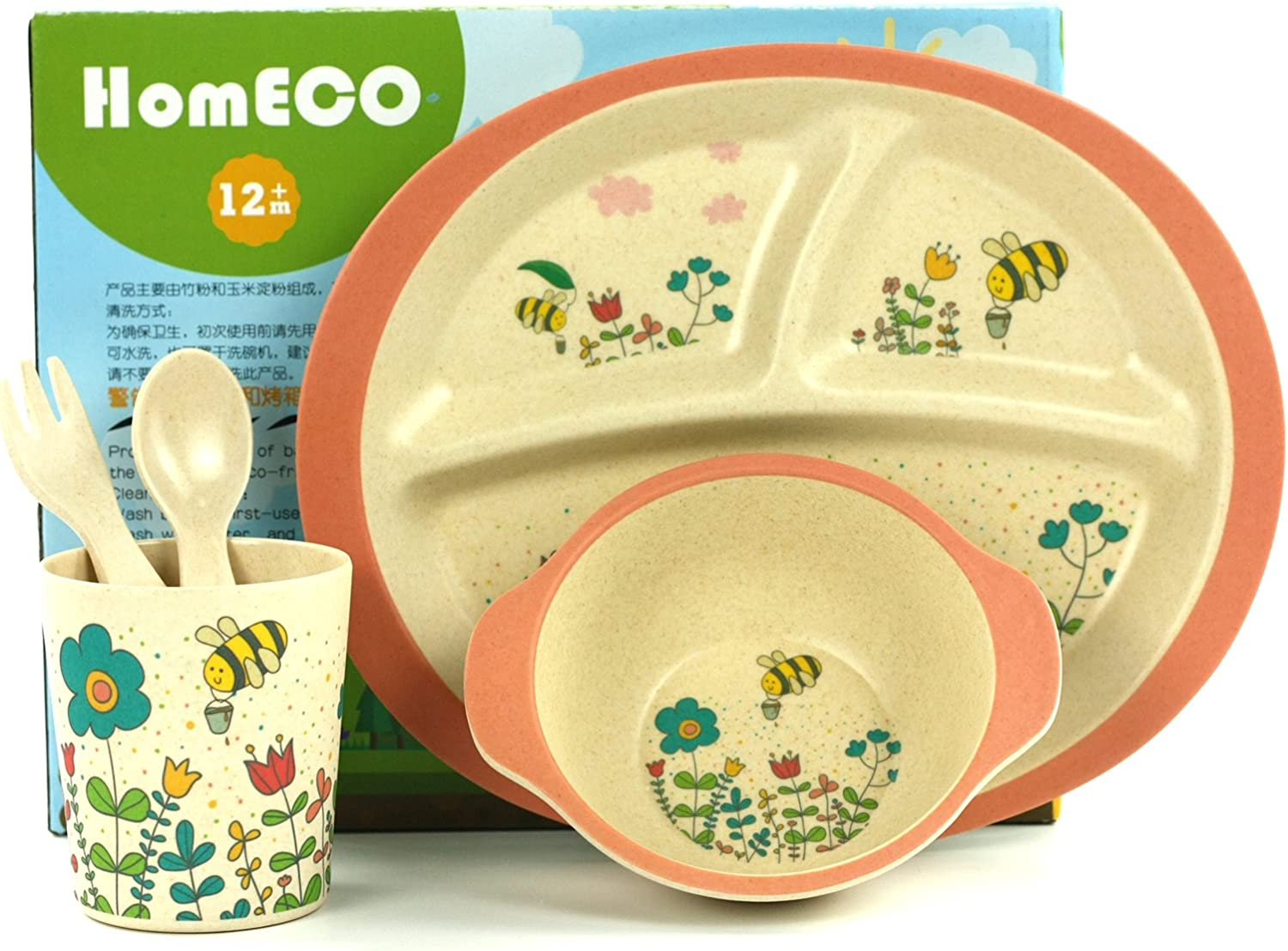Kids Bamboo Dinner Sets-Eco Friendly