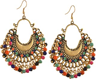beaded jhumka earrings