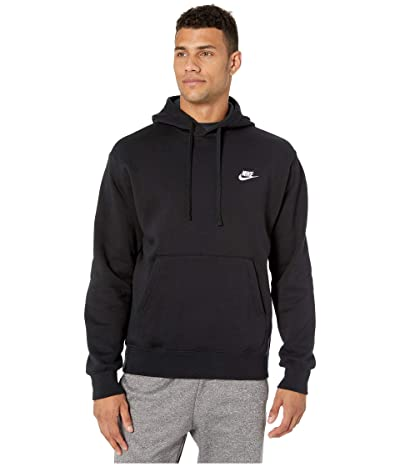 Nike NSW Club Hoodie Pullover (Black/Black/White) Men