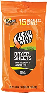 Dead Down Wind Dryer Sheets Natural Woods 15 PK. Orange
