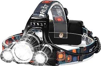 Oplaadbare koplamp met 3 lichten 4 modi,Hoge hoeveelheid koplamp met een jaar garantie zaklamp hoofd fakkel voor hardlope...