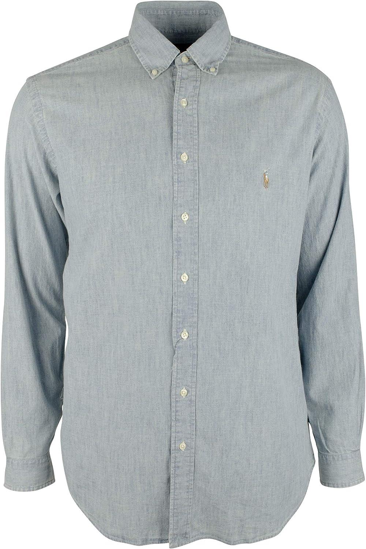 Polo Ralph Lauren Men's Big and Tall Chambray Long Sleeves Shirt