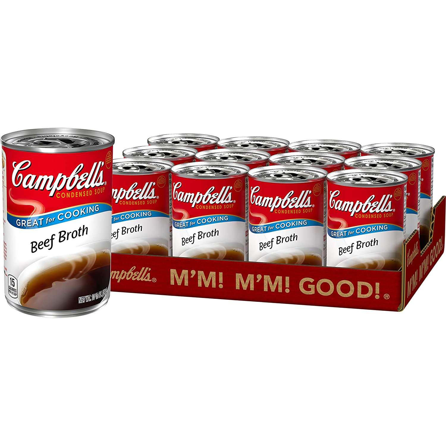 Campbell'sCondensed Beef Broth, 10.5 oz. Can (Pack of 12) (Packaging May Vary)