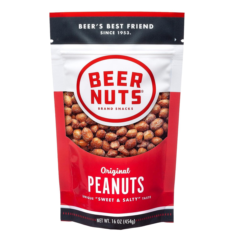 BEER NUTS Original Peanuts - latest 5 popular 16oz Bag Resealable and Sweet Salt