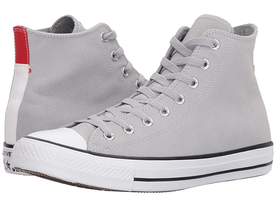 Converse Chuck Taylor(r) All Star(r) Fashion Leather Hi (Wolf Grey/Black/White) Shoes