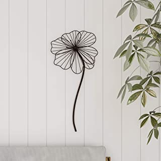 Lavish Home Wall Decor-Rustic Metal Wire Stemmed Flower Sculpture Hanging Accent Art for Living Room, Bedroom or Kitchen, ...