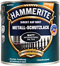 Hammerite 5272546 Metalen bescherming roestwerende kleur 2in1 mat 750ml antracietgrijs