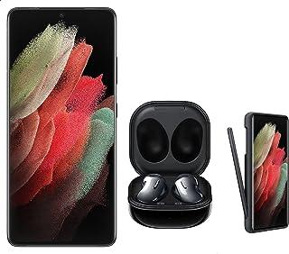 Samsung Galaxy S21 Ultra Dual SIM Mobile - 6.8 Inches, 256 GB, 12 GB RAM, 5G - Black with Samsung Galaxy Buds Live Headpho...
