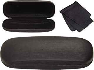 Hard Shell Brushed Eyeglass Case, Protective Holder for Glasses and Sunglasses