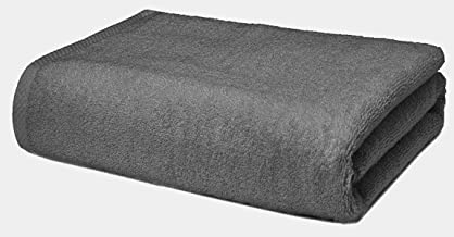 Roseate Ultra Soft 100% Cotton Large Bath Towel Super Absorbent/Anti Bacterial (550 GSM /70x140 cm) Grey