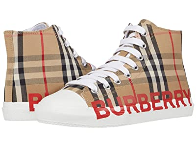 Burberry Kids Mini Larkhall High Top Sneaker (Toddler/Little Kid) (Archive Beige) Kid