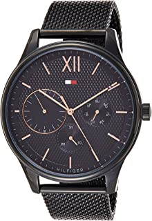 Tommy Hilfiger Men'S Black Dial Ionic Plated Black Steel Watch - 1791420