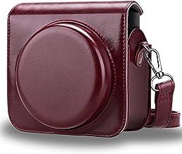FINTIE Fujifilm Instax Square SQ6 Custodia - PU Custodia Borsa in Pelle con Cinturino Rimovibile/Regolabile per Fujifilm Instax Square SQ6 Fotocamera Istantanea