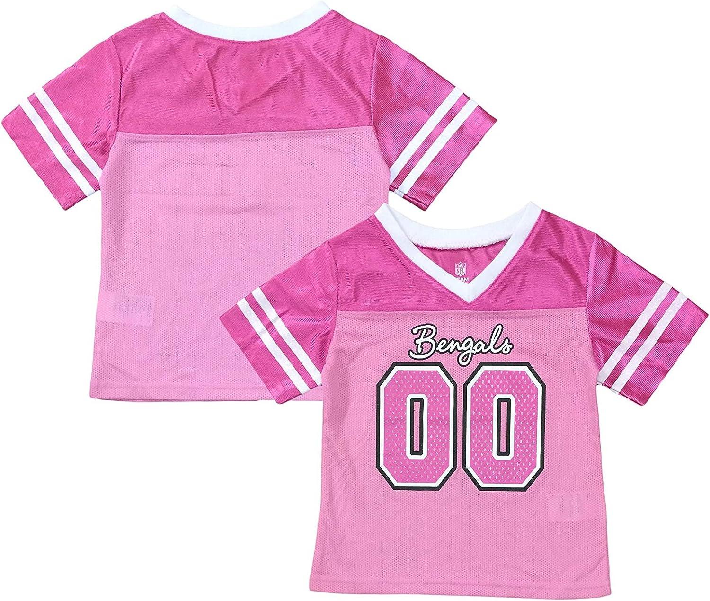Amazon.com: Outerstuff Cincinnati Bengals Logo #00 Pink Dazzle ...