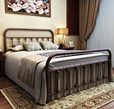 full size metal bed frame for headboard and footboard